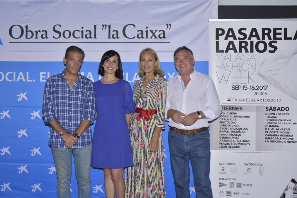 Chico Bandera, Ana Belén Morales, María José González y Pepe Cobos